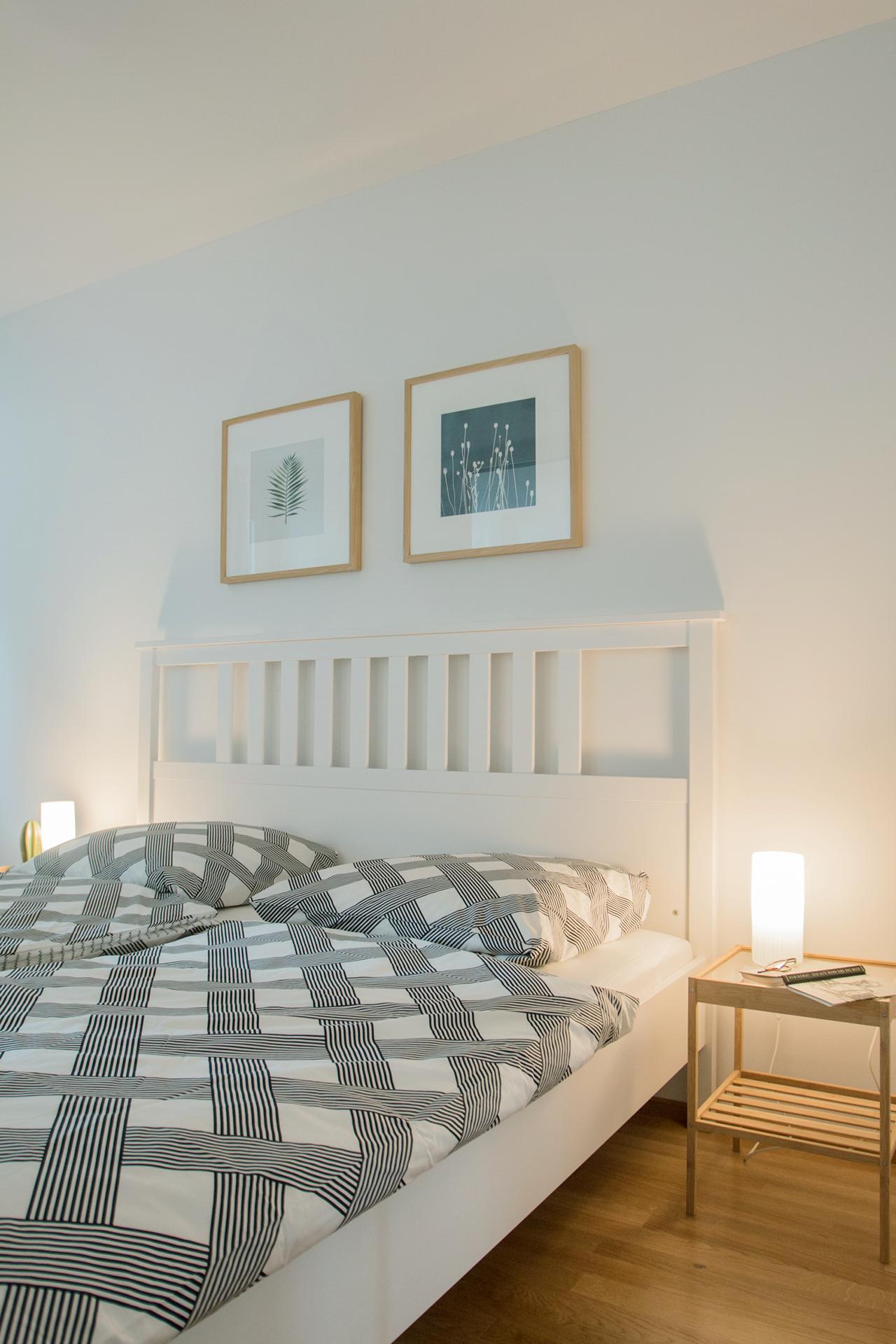 Schlafzimmer, gemütlich, Beleuchtung, Entspannung, Erholung