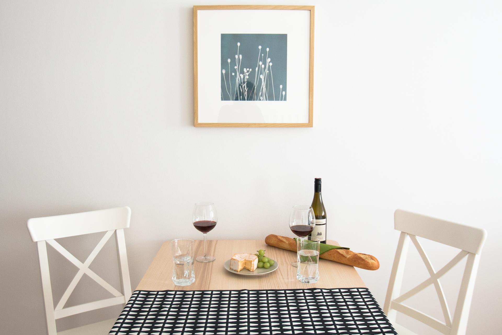 Esstisch, Wein, Elegant