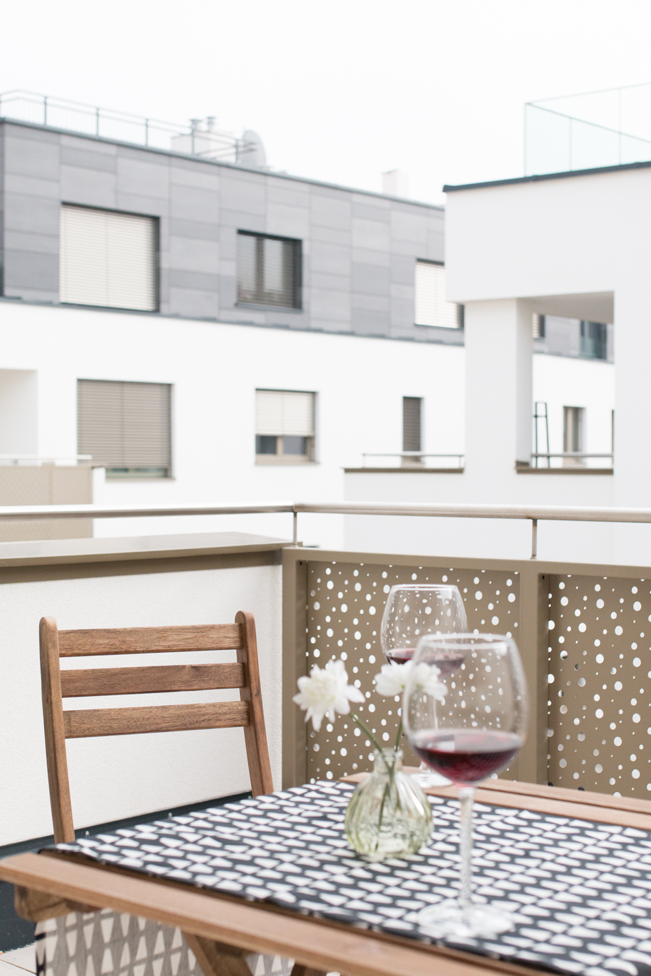 Loggia, Wein, Entspannung